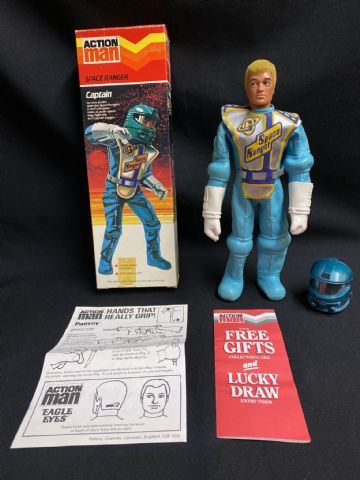 ACTION MAN - SPACE RANGER CAPTAIN - LAST ISSUE CHEVRON SCARCE BOXED FIGURE.